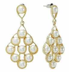 Candie's Gold Tone Simulated Pearl Textured Earrings from Kohl's $9.60